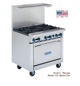 "NEW 36"" Restaurant Range 6 Burners"