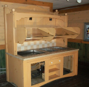7' B & B Breakfast Buffet Hutch Hot & Cold