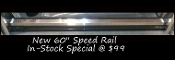 "Speed Rail - 72"" Stainless Single"