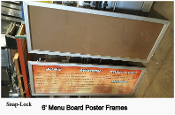 "72"" Menu Board Snap Frame"