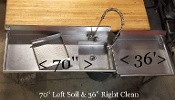 Clean & Soil Table for Upright Dishwasher