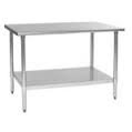 "Stainless 48"" Work Table (No Back Splash)"